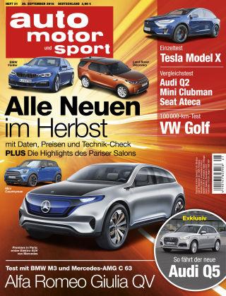 auto motor und sport 21/2016
