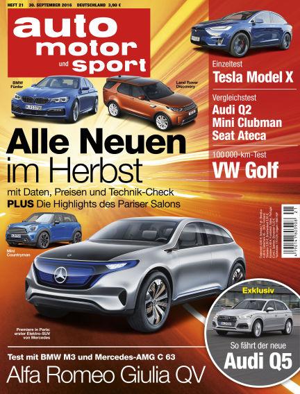 auto motor und sport September 30, 2016 00:00