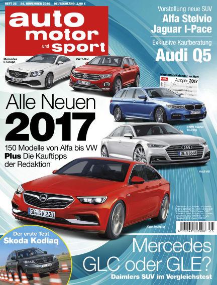 auto motor und sport November 24, 2016 00:00