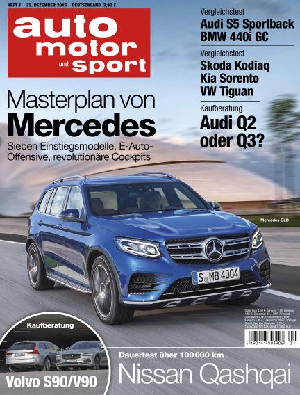 auto motor und sport December 22, 2016 00:00
