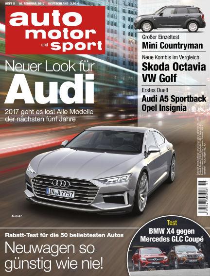 auto motor und sport February 16, 2017 00:00