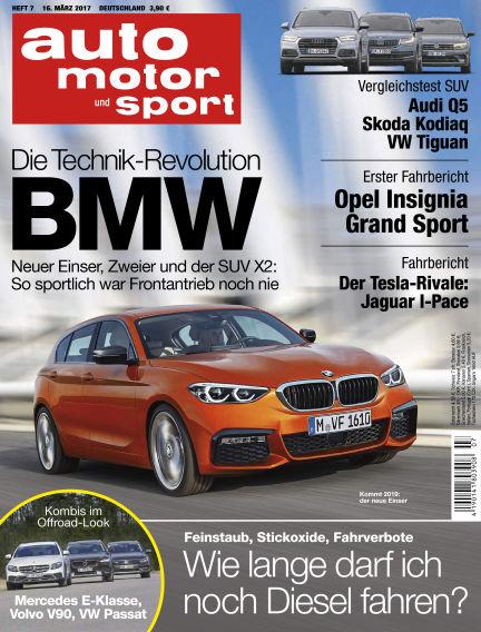 auto motor und sport March 16, 2017 00:00