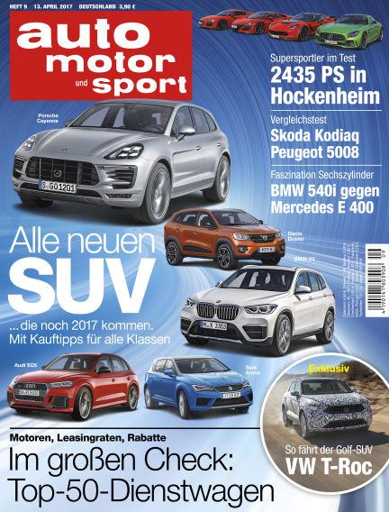 auto motor und sport April 13, 2017 00:00