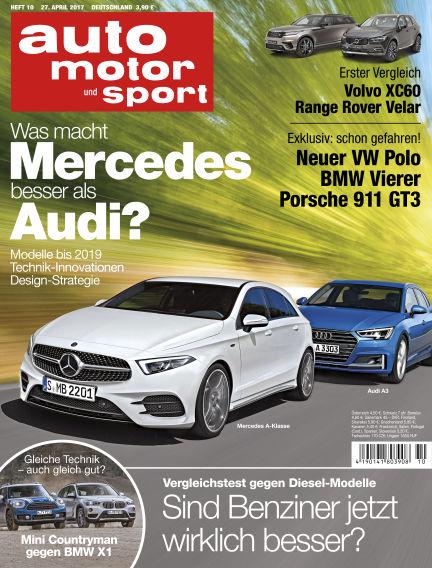 auto motor und sport April 27, 2017 00:00
