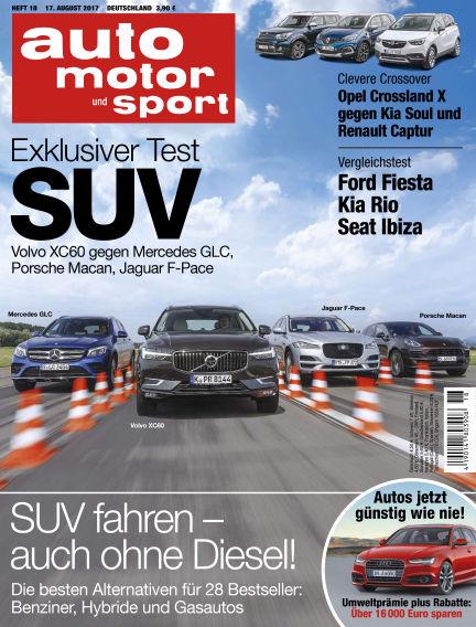 auto motor und sport August 17, 2017 00:00