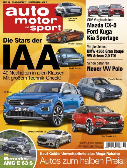 auto motor und sport August 31, 2017 00:00