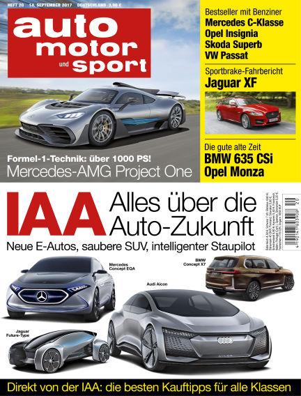 auto motor und sport September 14, 2017 00:00