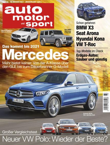 auto motor und sport October 26, 2017 00:00