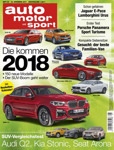 auto motor und sport November 23, 2017 00:00