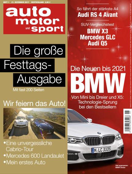 auto motor und sport December 21, 2017 00:00