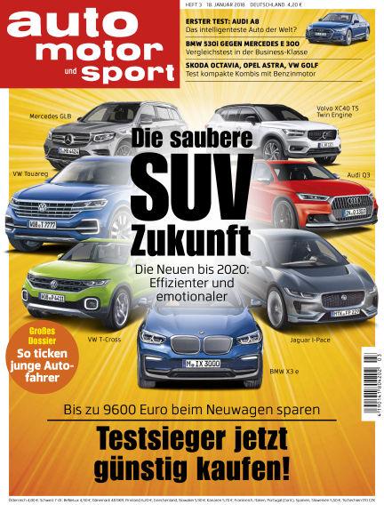auto motor und sport January 18, 2018 00:00