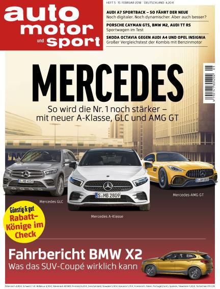 auto motor und sport February 14, 2018 00:00
