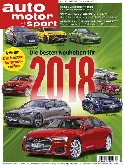 auto motor und sport February 28, 2018 00:00