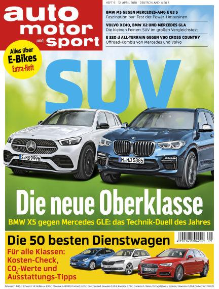 auto motor und sport April 11, 2018 00:00