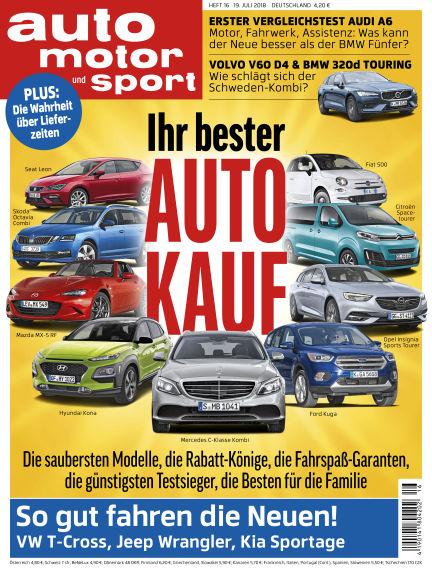 auto motor und sport July 18, 2018 00:00