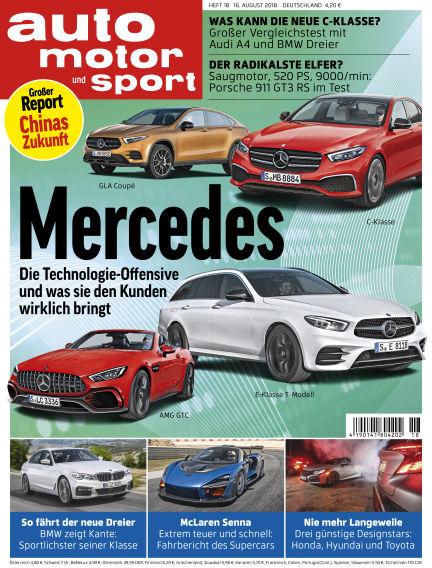 auto motor und sport August 16, 2018 00:00
