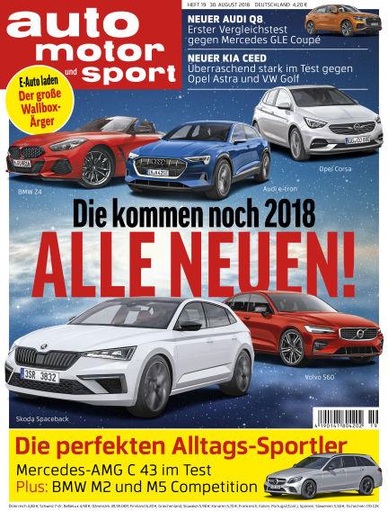 auto motor und sport August 30, 2018 00:00