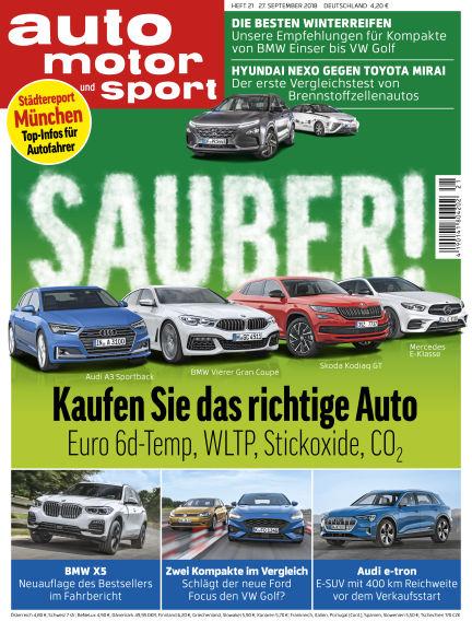 auto motor und sport September 27, 2018 00:00