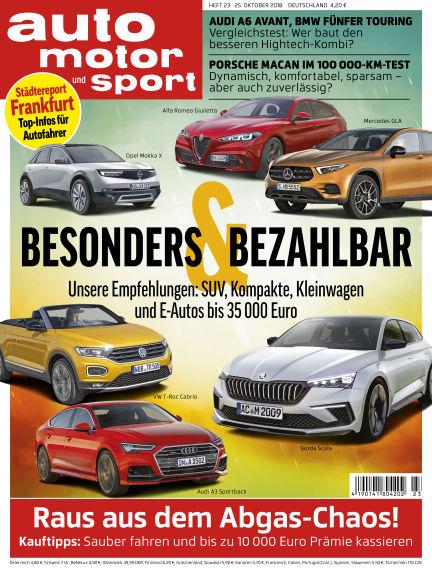 auto motor und sport October 25, 2018 00:00