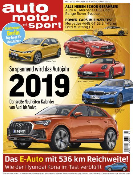 auto motor und sport November 22, 2018 00:00