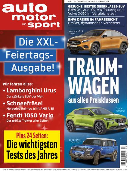 auto motor und sport December 20, 2018 00:00