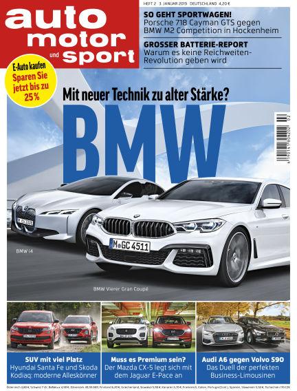 auto motor und sport January 03, 2019 00:00