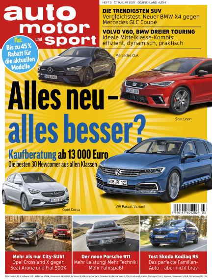 auto motor und sport January 17, 2019 00:00