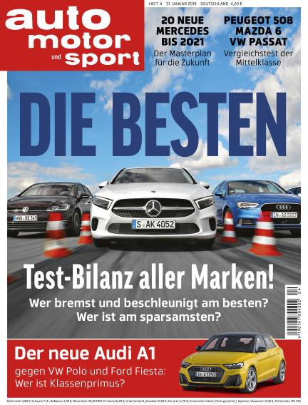 auto motor und sport January 31, 2019 00:00
