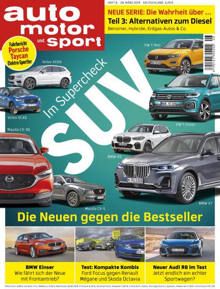 auto motor und sport March 28, 2019 00:00