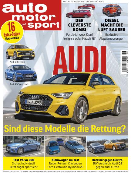 auto motor und sport August 14, 2019 00:00