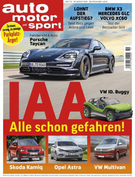 auto motor und sport August 29, 2019 00:00