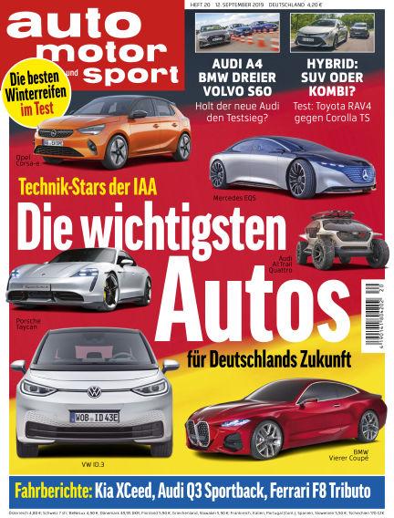auto motor und sport September 12, 2019 00:00