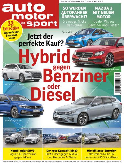 auto motor und sport September 25, 2019 00:00