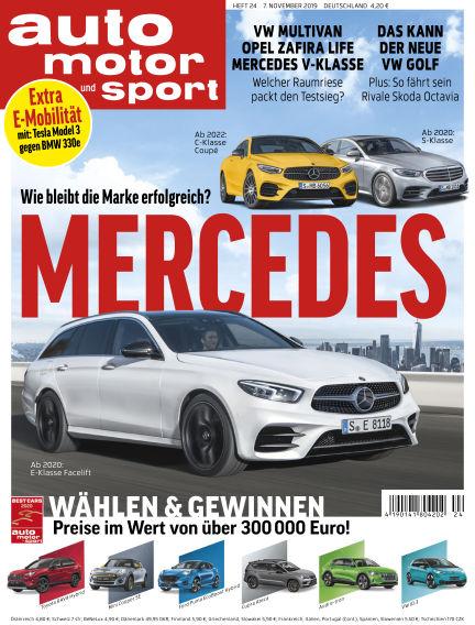 auto motor und sport November 06, 2019 00:00