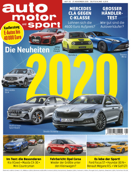 auto motor und sport November 21, 2019 00:00