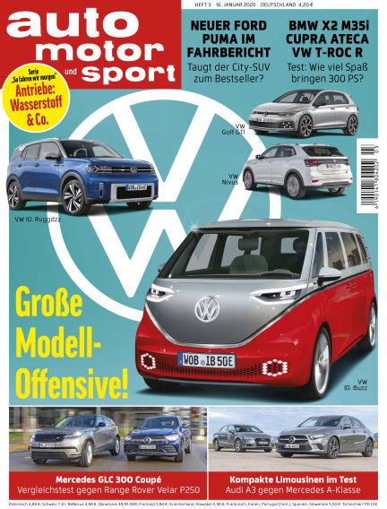 auto motor und sport January 16, 2020 00:00