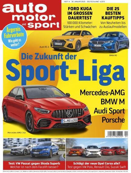 auto motor und sport January 29, 2020 00:00