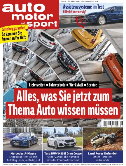 auto motor und sport March 25, 2020 00:00
