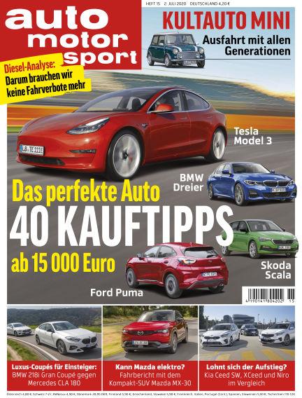 auto motor und sport July 01, 2020 00:00