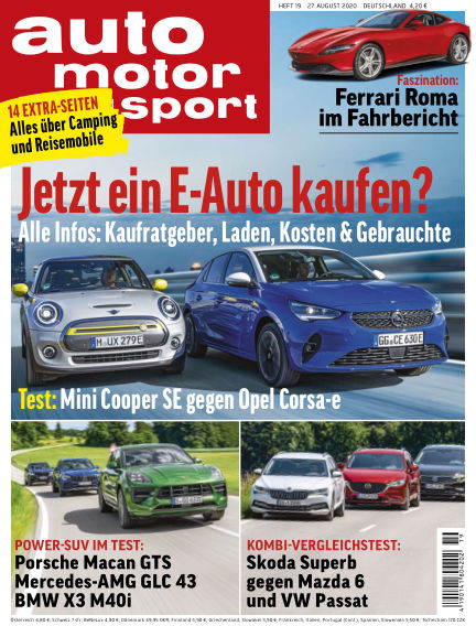 auto motor und sport August 26, 2020 00:00