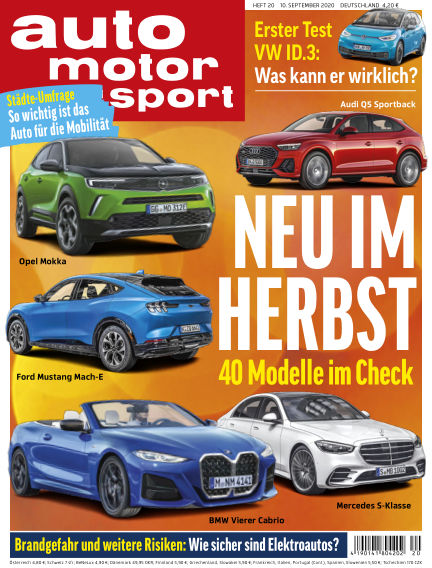 auto motor und sport September 09, 2020 00:00