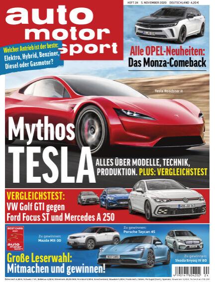 auto motor und sport November 05, 2020 00:00