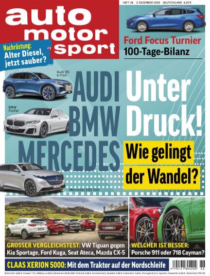 auto motor und sport December 02, 2020 00:00