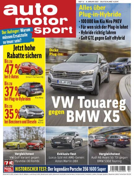auto motor und sport January 03, 2021 00:00