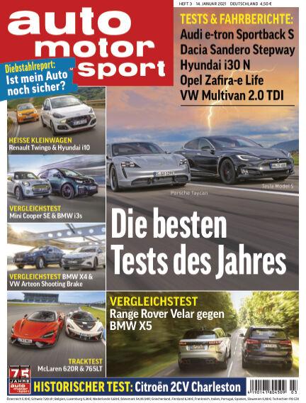 auto motor und sport January 13, 2021 00:00