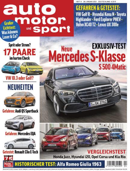 auto motor und sport January 27, 2021 00:00