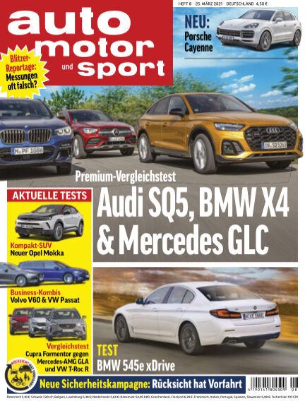 auto motor und sport March 24, 2021 00:00