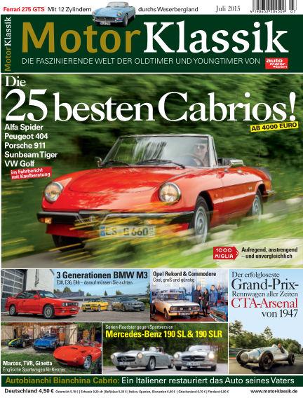 Motor Klassik June 10, 2015 00:00