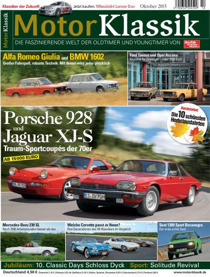 Motor Klassik September 16, 2015 00:00