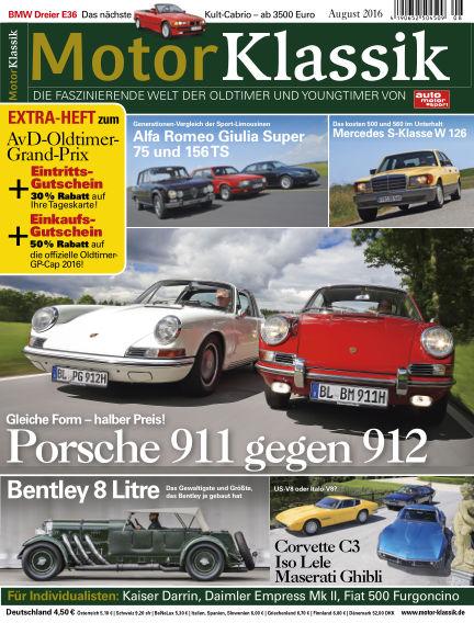 Motor Klassik July 13, 2016 00:00